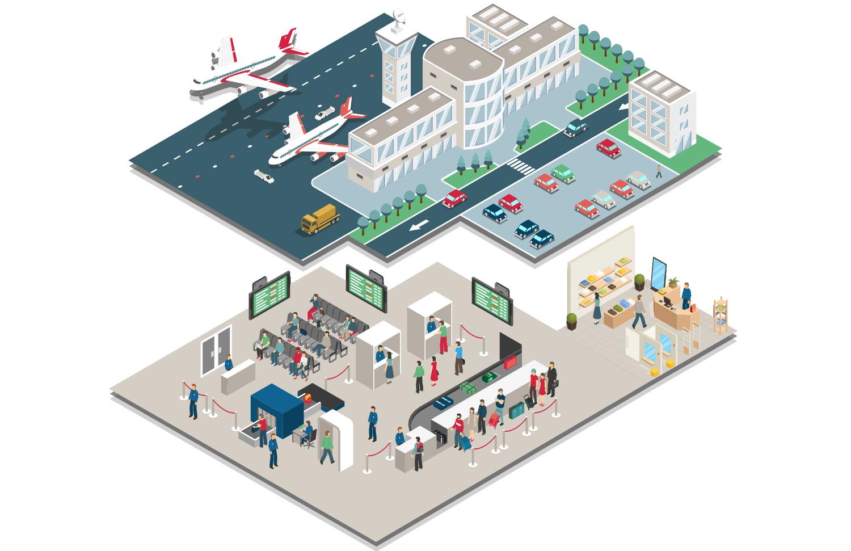 Imagem de um aeroporto