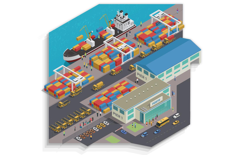 Imagem de um porto