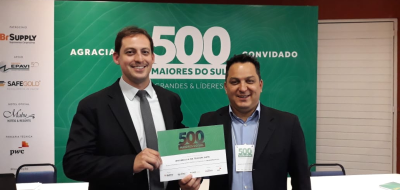 Intelbras entre as 500 maiores empresas