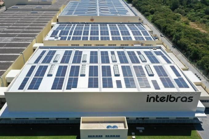 Imagem aérea da filial da Intelbras em São José/SC