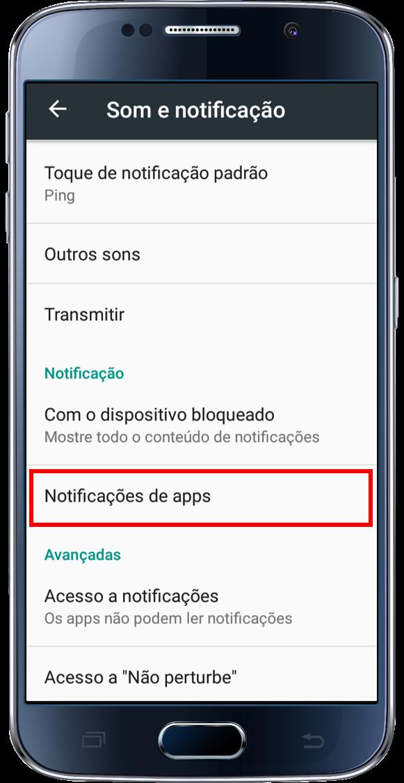 Notificações de Apps.