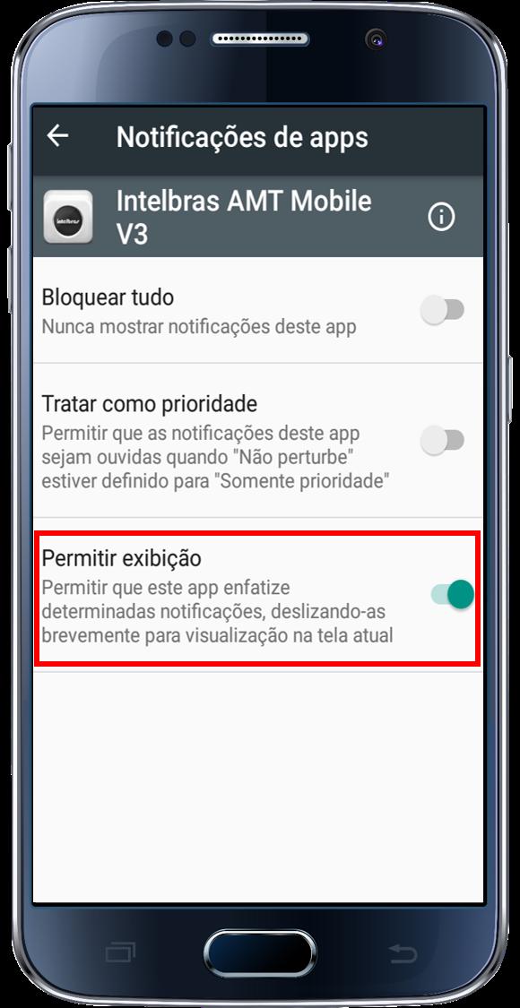 Marcar permitir a exibição de notificações