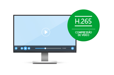 Compressão de vídeo H.265 do MHDX 1116 Intelbras