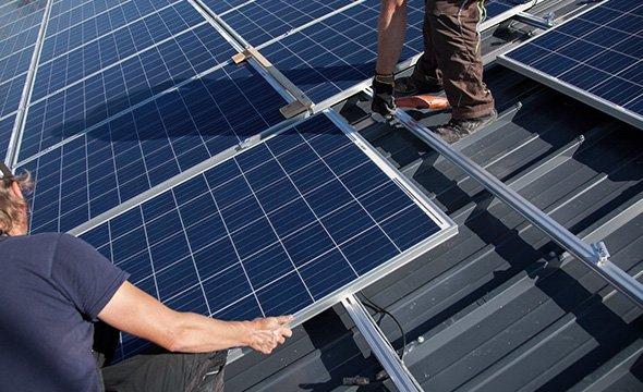 mini banner energia solar