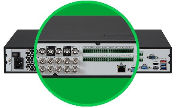 Conte com mais entradas de alarme e saídas de vídeo HDMI