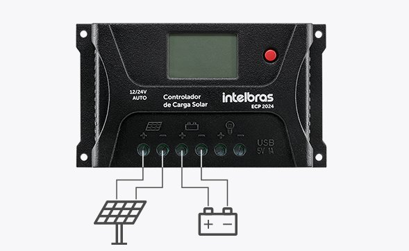 Controlador de Carga de painel solar PWM