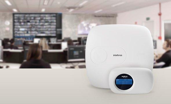 Comunicação com empresas de monitoramento e segurança 24h Central de alarme monitorada com até 64 zonas