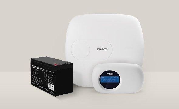 solução com a central de alarme monitorada com 18 zonas AMT 2018 E