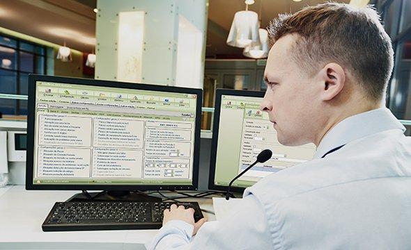 Interligação com central de alarme para monitoramento