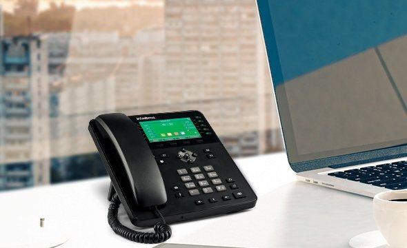 20 contas SIP e interface de rede Gigabit telefone IP Giga TIP 635G
