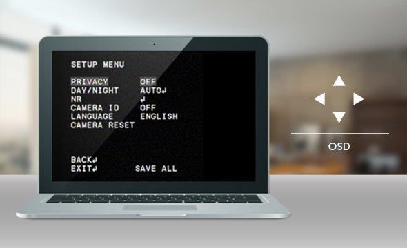 multirecursos com o Menu OSD para câmera Multi HD com infravermelho VHD 3120 D G5