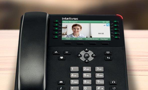 Telefone IP Giga TIP 635G recebe chamadas com vídeo