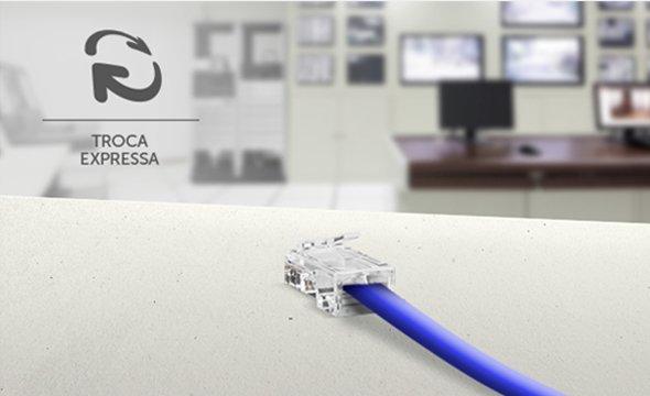 cenário de aplicação conector RJ45 CAT6