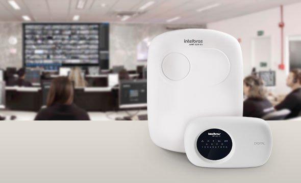central de alarme monitorada com 18 zonas AMT 2118 EG Intelbras
