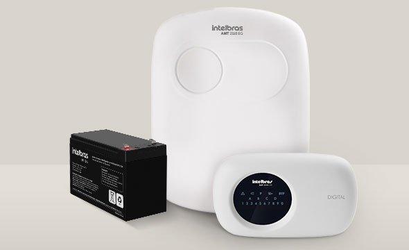 solução central de alarme monitorada com 18 zonas AMT 2118 EG Intelbras