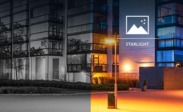 função starlight câmera HDCVI VHD 5250 Z SL Intelbras