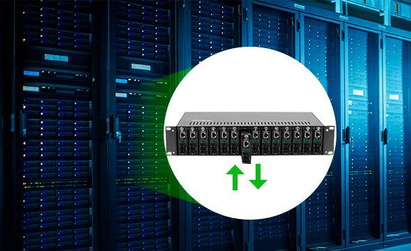 tecnologia hot swap conversor de mídia Fast Ethernet monomodo 20 km KFSD 1120 A