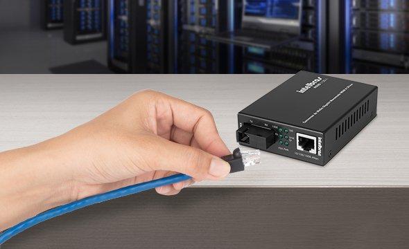 plug and play conversor de mídia Gigabit Ethernet KGSD 1120 A