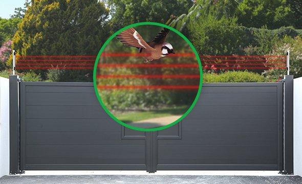 Sensor de barreira infravermelho ativo oito feixes