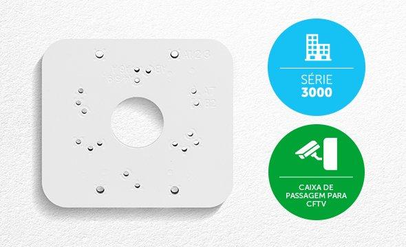 Garantia de qualidade Intelbras com a Caixa de passagem para CFTV VBOX 3000 P Intelbras