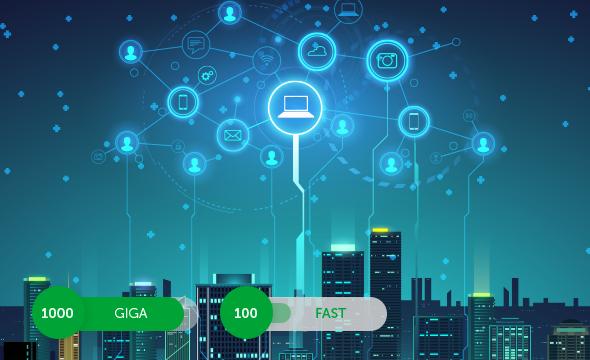 Maior velocidade de transmissão de dados