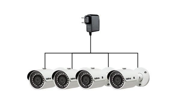 Fornece energia para até 8 câmeras HD