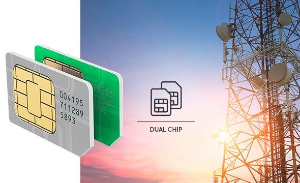 Permite o uso de até 2 SIM cards