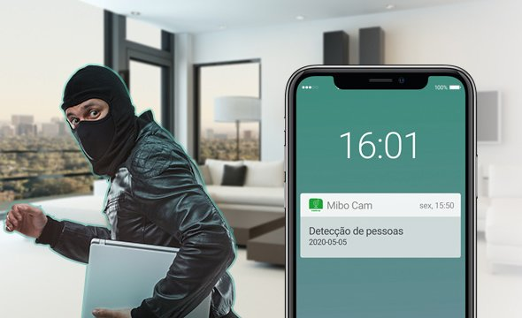 Inteligência artificial com alarme integrado