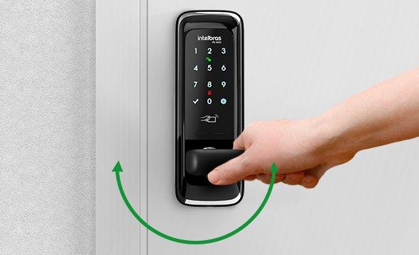 Design e versatilidade com a fechadura digital de embutir