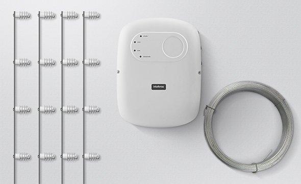 Solução completa para cercas elétricas com haste de barra chata com 4 isoladores