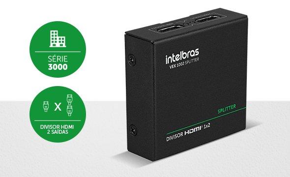 Aumente as possibilidades com a divisão do sinal HDMI - VEX 1002 Splitter