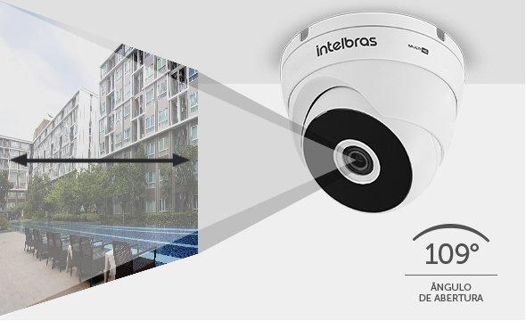 Intelbras - camera com angulo de abertura 109.